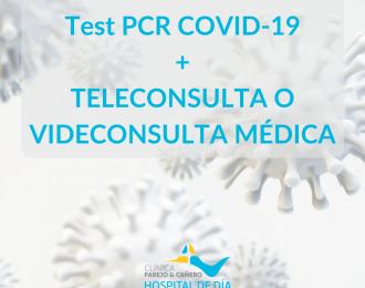 Test PCR COVID-19 + Teleconsulta o Videoconsulta médica