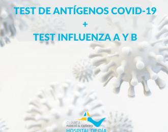 Test de Antígenos Covid19 + Test Influenza A y B