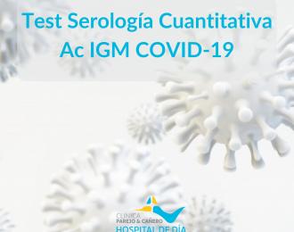 Test Serología Cuantitativa IgM Covid19