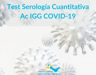 Test Serología Cuantitativa IgG Covid19