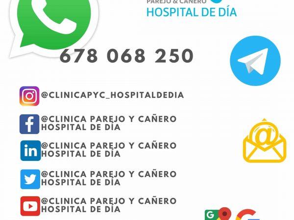 WHATSAPP CLINICA PAREJO Y CAÑERO HOSPITAL DE DÍA